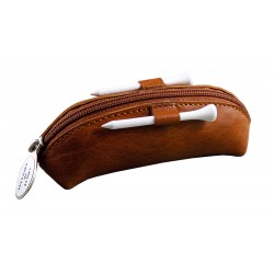 TROUSSE LEATHER MARRON